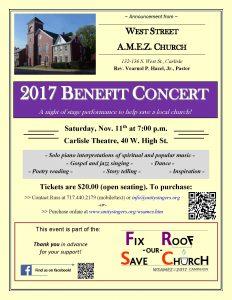 Church Benefit Concert poster