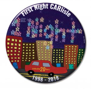 First Night 2018 button